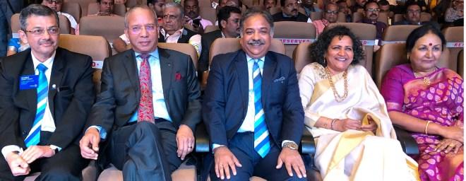 From L: RIDE Bharat Pandya, PRIP K R Ravindran, RIPR Vinod Bansal, Sangita and Vanathy Ravindran.