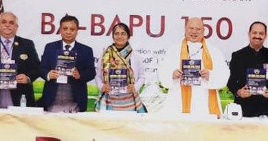 DGE Dhiran Datta (3040), DGE Kiran Lal Shreshta (3292) and DG Gustad Anklesaria (3040) at the Peace Convention in Gurugram.