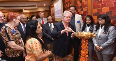 PDG Virpi Honkala from Finland inaugurates  the milk bank facility  in the presence of  Dr ­Bhagyashree Patil, Vice Chancellor, D Y Patil ­Hospital; PDGs Leila ­Risteli, Matti Honkala; ­Project Director Ravi Rajapurkar and PDG Deepak Shikarpur.