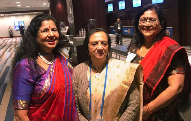From L: PDGs Rekha Shetty, Kalpana Khound and Bindu Singh at the CoL meet.