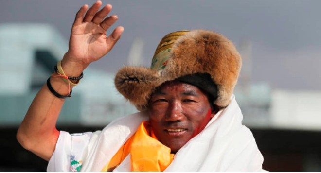 Sherpa climbs Mt Everest for record time Sherpa climber Kami Rita scaled Mount Everest for the 24th time, breaking his own record for the most successful ascents of the world's highest peak. Rita, 50, first scaled Everest in 1994 and has been making the trip nearly every year since.