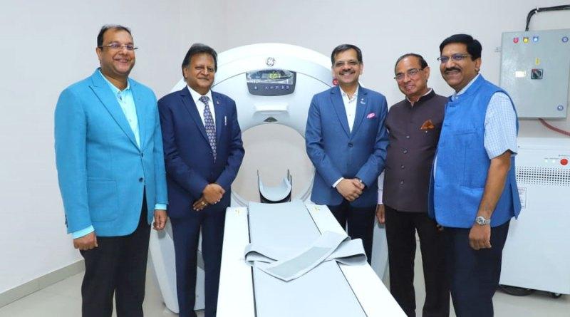 DGN Alok Gupta, PDGs J K Gaur and Sharat Jain  at the new CT scan facility.