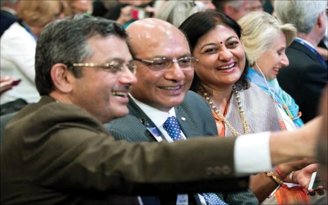 Selfie time: RIDs Bharat Pandya, Kamal Sanghvi and Sonal.