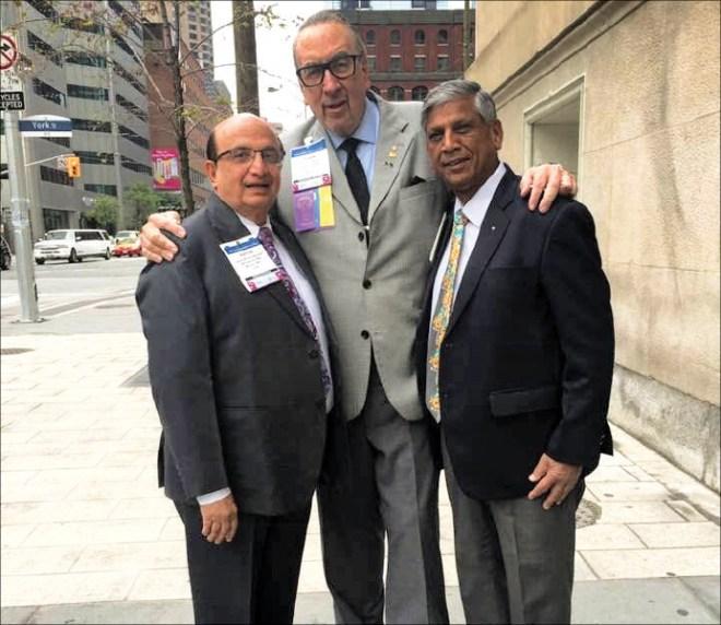 PRID Ashok Mahajan, PRIP Frank Devlyn and PRID YP Das.