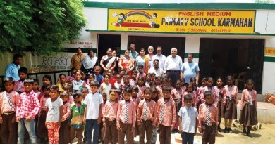 Members of RC Gorakhpur with students in one of the government schools.
