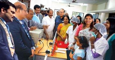 From Left: RC Madras North President M Ganapathi, RID Kamal Sanghvi, DG G Chandramohan, PDG G Olivannan, legislator  R Nataraj, PRID P T Prabhakar, State BJP General Secretary  Vanathi Srinivasan and Project Chair Sugirda Nishanth.