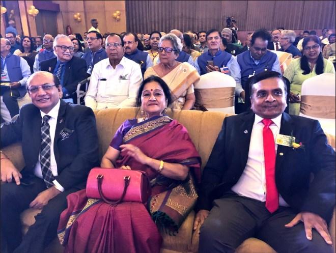 RID Kamal Sanghvi with DG Ajay Agarwal and his wife Mamta.