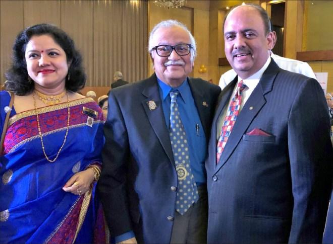 RIPN Mehta with PDG Somendra Chandra Nandy and RC Calcutta Secretary Anusua Das.