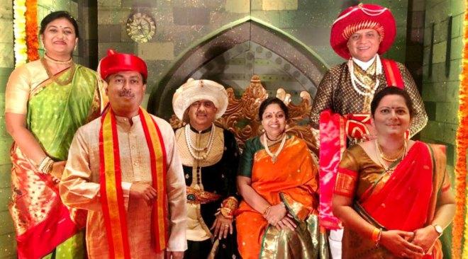 RIPN Mehta and Rashi with RID Kamal Sanghvi and Sonal, PDG Mahesh Kotbagi and Amita in Pune.