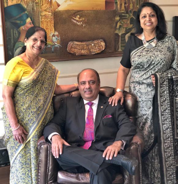 with Vallabh Kumari (mother) and Rashi