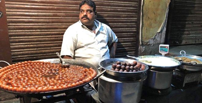 Mouth-watering gulab jamun.