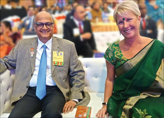 TRF Trustees Gulam Vahanvaty and Jennifer Jones.