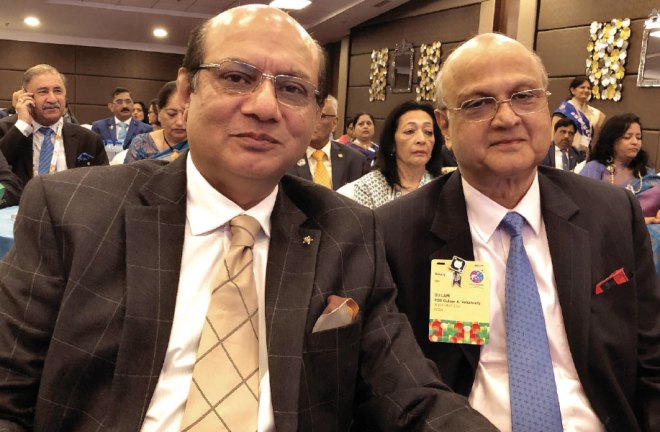 RID Kamal Sanghvi with Trustee Gulam Vahanvaty.