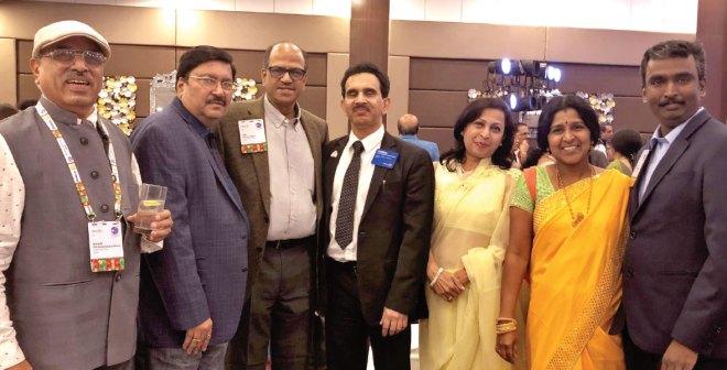 (From L) PDGs Ramachandran Bharat, Shashi Sharma, Sam Movva, Chandrashekhar Kolvekar, his wife Ruta, Sumathi and PDG M Muruganandam.
