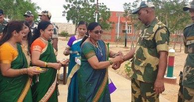 Women Rotarians celebrate Rakhshabandhan with BSF jawans