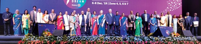 "Heritage Awards were presented to senior leaders of Zones 4,5,6 and 7. ""They are our pride and they brought Rotary to where we are today,"" said Institute Convener and RID Bharat Pandya."