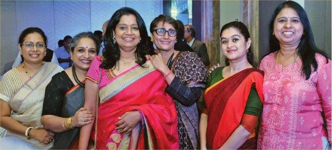 Vinita with members of her home club, RC Chennai Towers.
