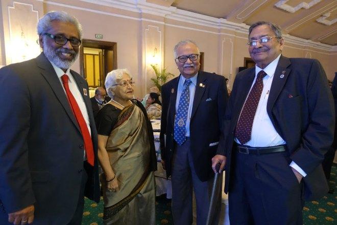 From L: PP Ritwik Gupta, Shashi Rohatgi, PDGs Somendra Chandra Nandy and Prabhat Rohatgi.