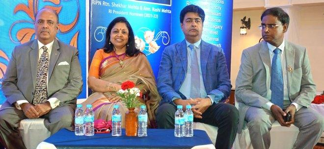 From L: RIPN Mehta, Rashi, RIDN Venkatesh and DGN Sridhar.