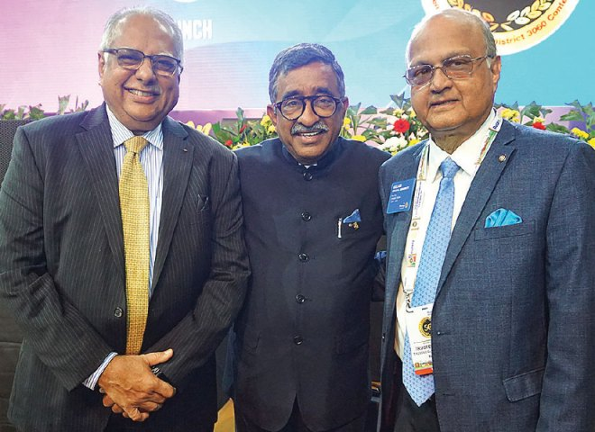PRID Manoj Desai with RIPR Subramanian and TRF Trustee Gulam Vahanvaty.