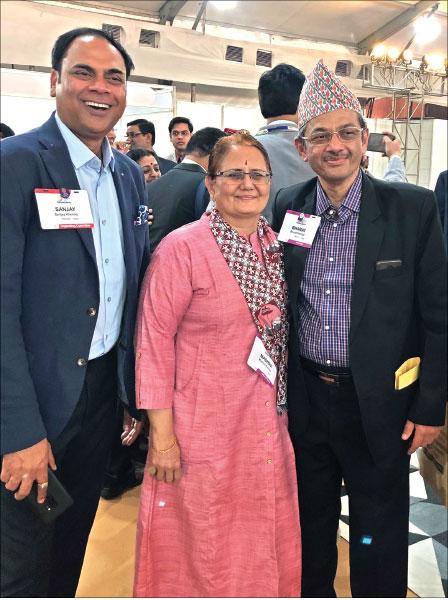RID Pandya, Madhavi and PDG Sanjay Khemka.