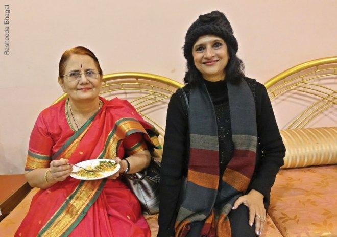Madhavi Pandya with past president Nilima Joshi.