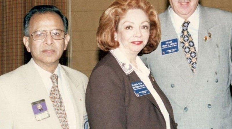 PRIP Rajendra Saboo with PRIP Frank Devlyn and Gloria Rita.