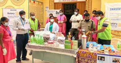 RC Bengaluru Manyata launching the oxygen bank.