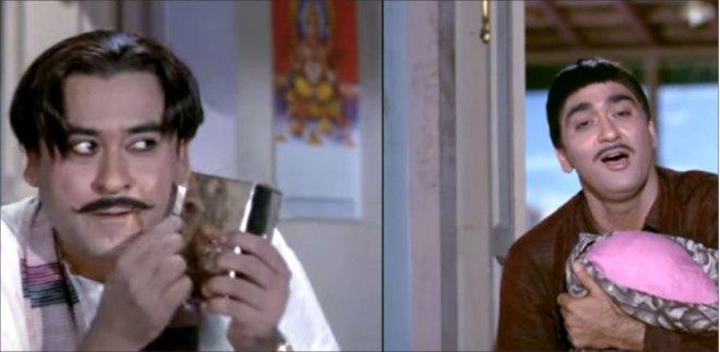 Kishore Kumar with Sunil Dutt.