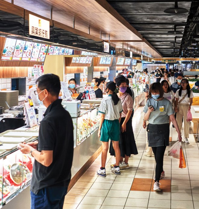 Life in Taipei revolves around eating, from pan-fried buns for breakfast to a food court meal.