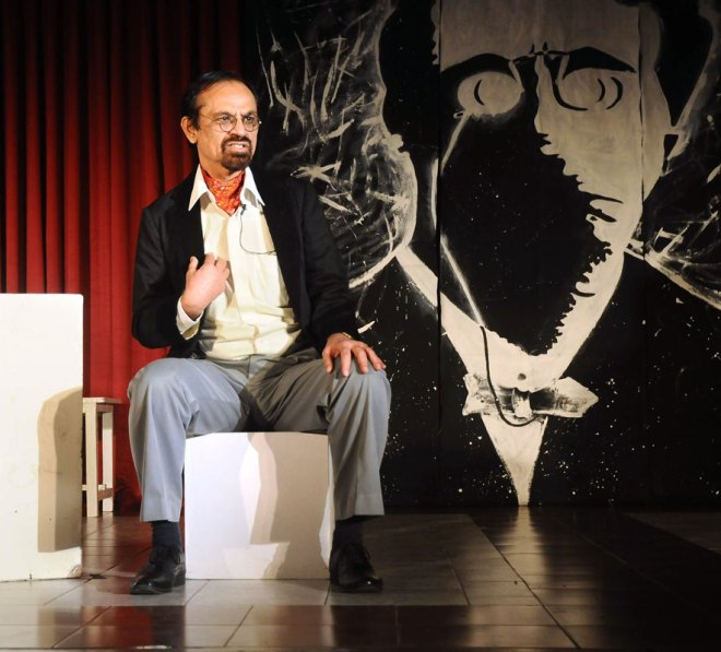 Rtn Deepak Nakra performing a monologue from one of Russian playwright Anton Chekov's short stories.