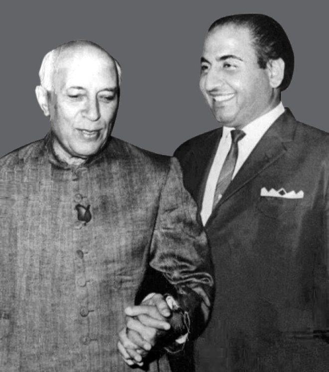 with former Prime Minister of India, Jawaharlal Nehru.