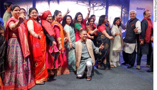 Spouses of DGEs with RIDE Mahesh Kotbagi, Amita and Rashi Mehta.