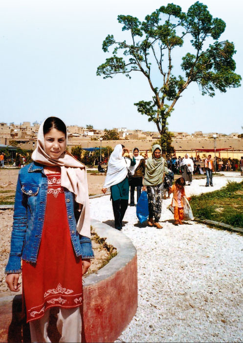 Baghe Zanana (Women's Garden) in Kabul where women can meet, throw off their veils and relax.