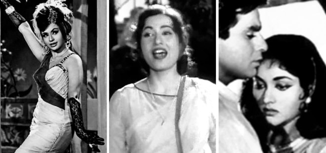From L: Helen, Madhubala and Vyjayanthimala for whom Asha has sung several songs.