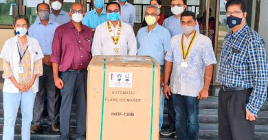 Members of RC Pondicherry Port at the Indira Gandhi Medical College and Research Institute.