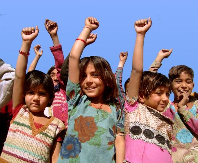 Children at an Asha Kiran centre in Rajasthan.