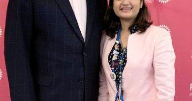 PRIP Barry Rassin with PDRR Nishita Pednekar.