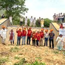 Two Delhi clubs construct a check dam in Rajasthan