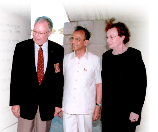 PRIP Rajendra Saboo with PRIP Carlo Ravizza and his wife Rossana during one of their visits to Delhi.