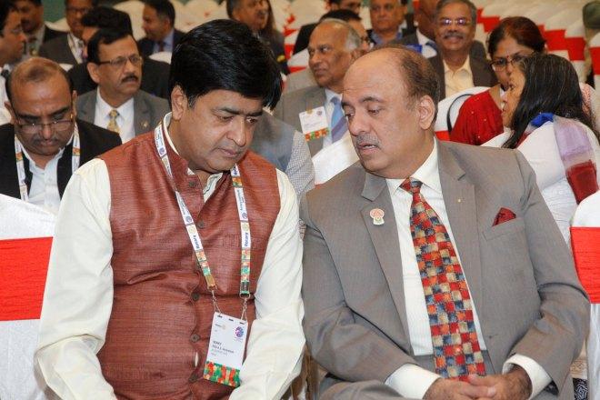 RI President Shekhar Mehta (R) with RID  AS Venkatesh.