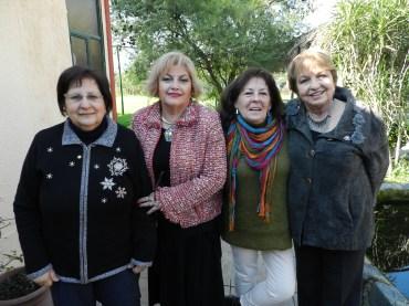 Beatriz Zahr, Patricia Villegas, Silvia Ibarra y Eliana Cabello