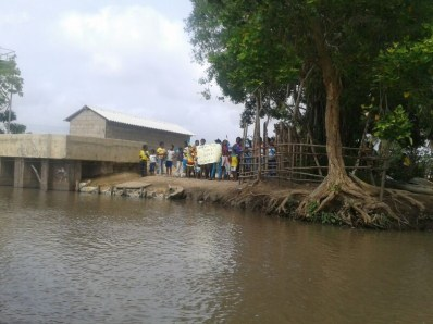 """Dock"" of arrival to the community."
