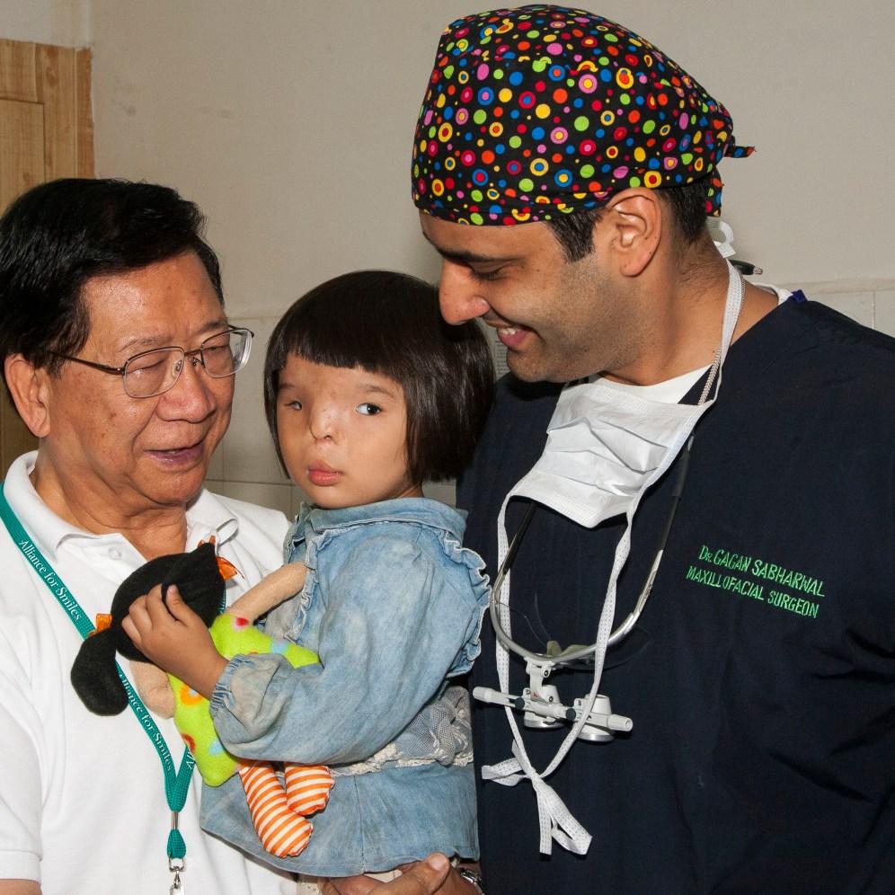 Pei with Dr. Gagan.