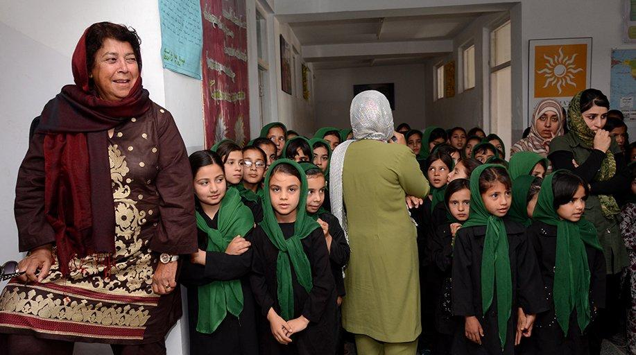 Rotarian Razia Jan founded a girls school in Afghanistan.