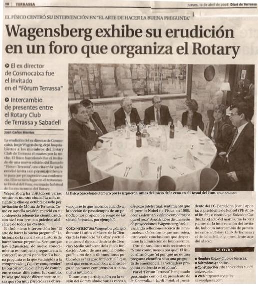 conferència Wagensberg