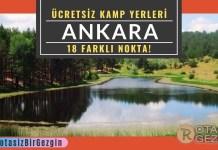 Ankara Ücretsiz Kamp Yerleri Listesi