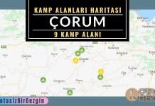 19 Çorum Ucretli ve Ucretsiz Kamp Alanlari Haritasi