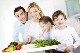 Gezonde voeding gezin