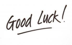 good luck bonne chance